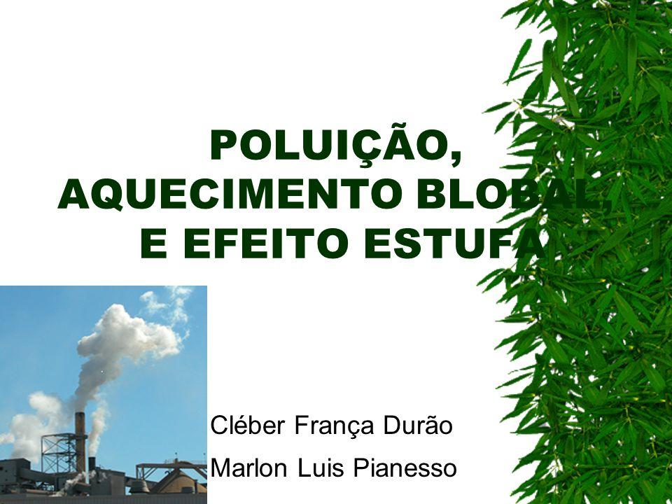 POLUIÇÃO, AQUECIMENTO BLOBAL, E EFEITO ESTUFA
