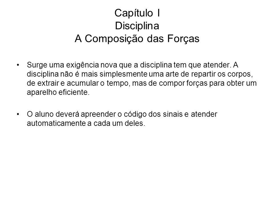 Capítulo I Disciplina A Composição das Forças