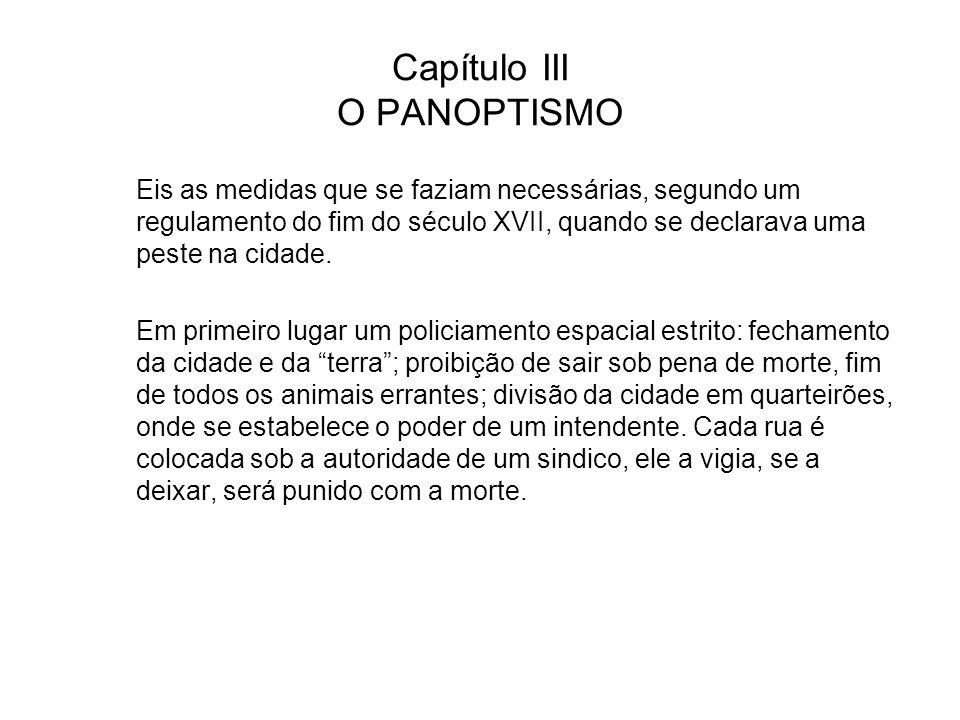 Capítulo III O PANOPTISMO
