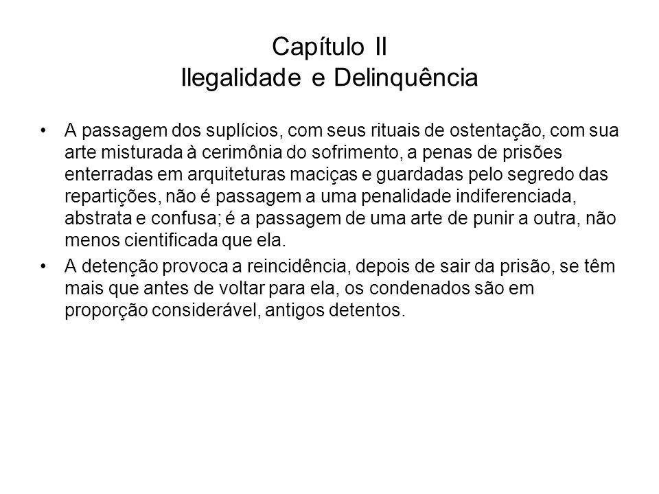 Capítulo II Ilegalidade e Delinquência