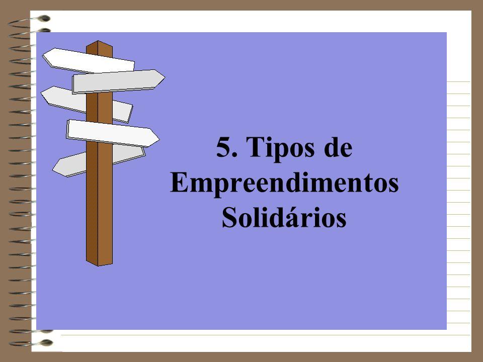 5. Tipos de Empreendimentos Solidários