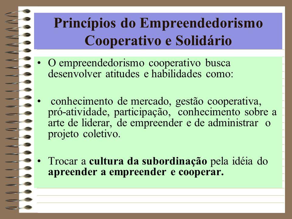 Princípios do Empreendedorismo Cooperativo e Solidário