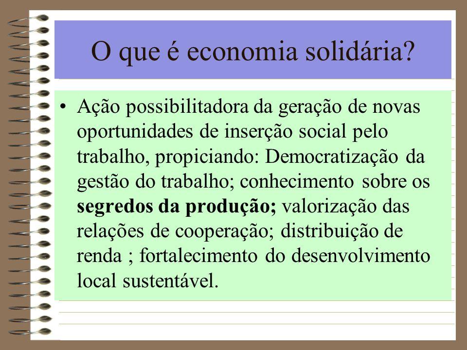 O que é economia solidária