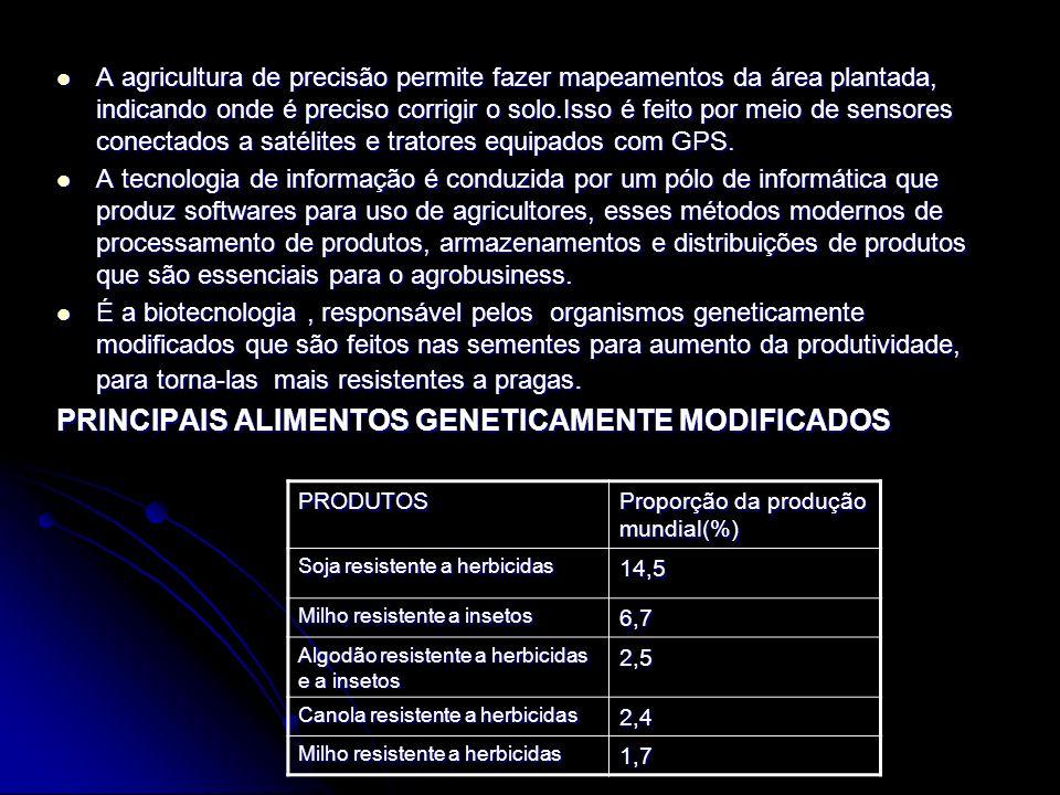 PRINCIPAIS ALIMENTOS GENETICAMENTE MODIFICADOS