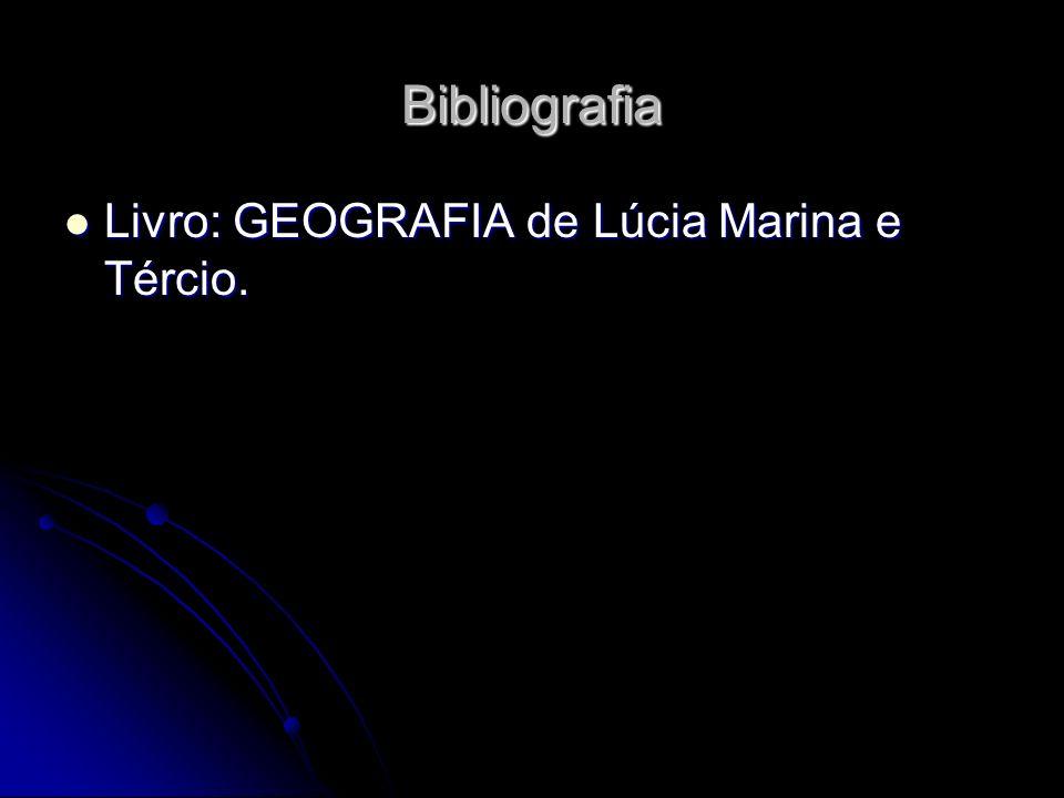 Bibliografia Livro: GEOGRAFIA de Lúcia Marina e Tércio.