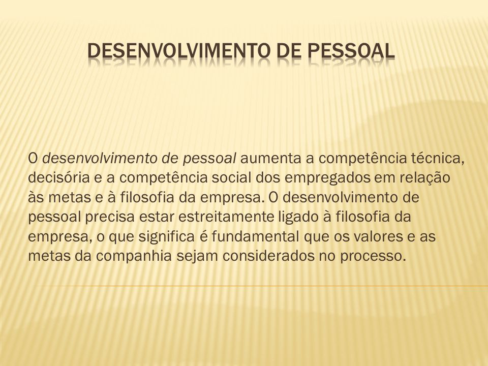 Desenvolvimento de Pessoal