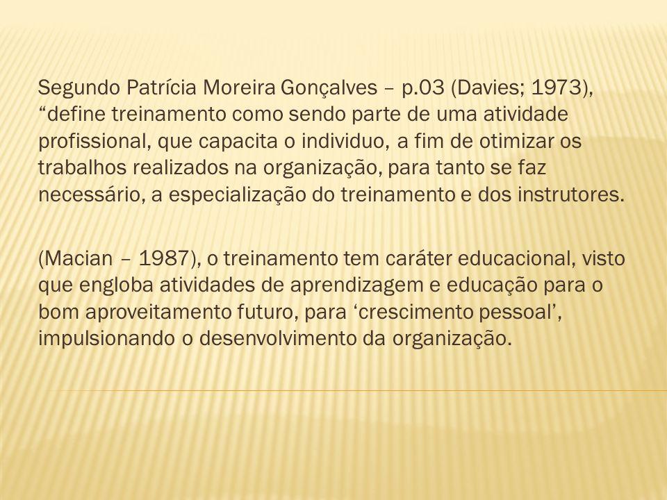 Segundo Patrícia Moreira Gonçalves – p