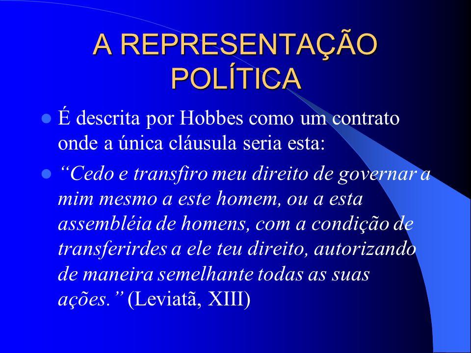 A REPRESENTAÇÃO POLÍTICA