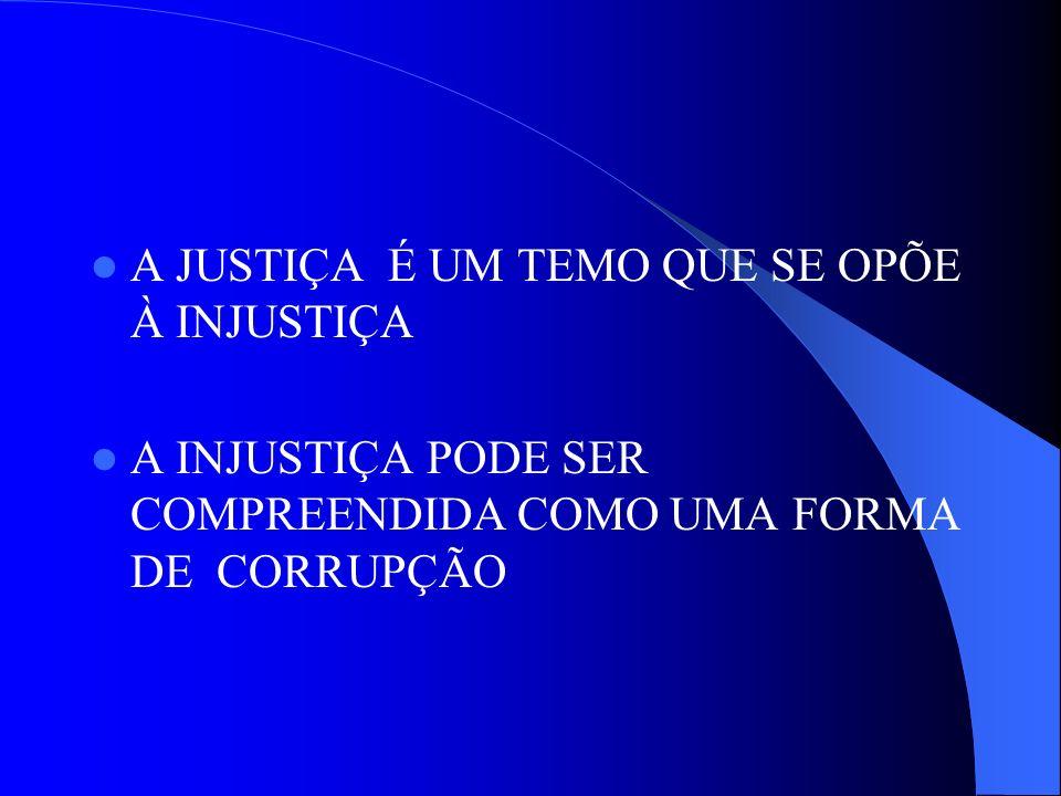 A JUSTIÇA É UM TEMO QUE SE OPÕE À INJUSTIÇA
