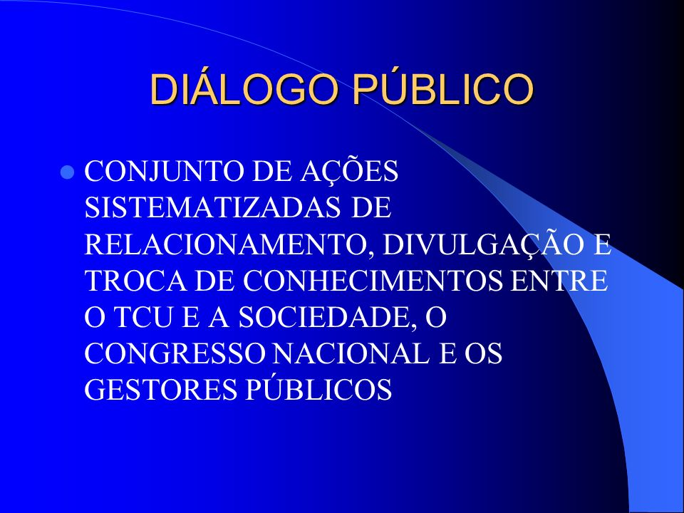 DIÁLOGO PÚBLICO