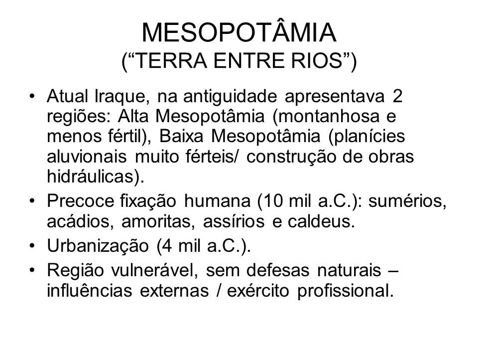 MESOPOTÂMIA ( TERRA ENTRE RIOS )