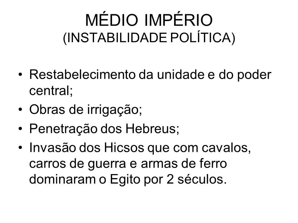 MÉDIO IMPÉRIO (INSTABILIDADE POLÍTICA)