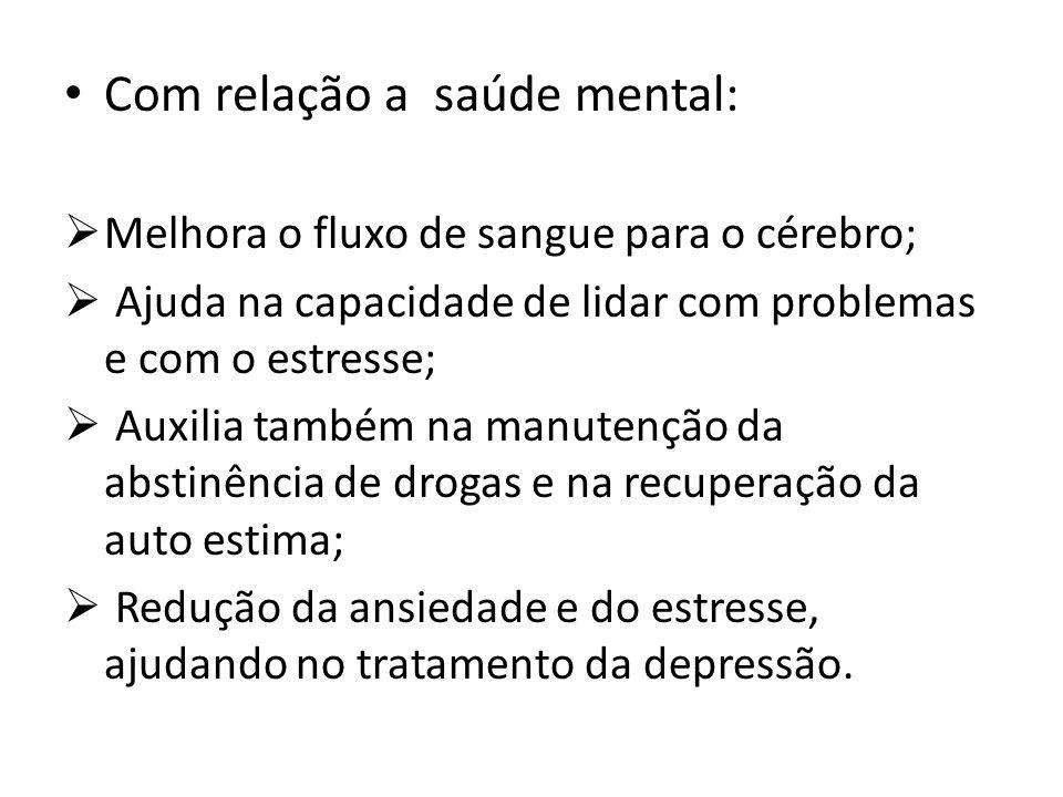 Com relação a saúde mental: