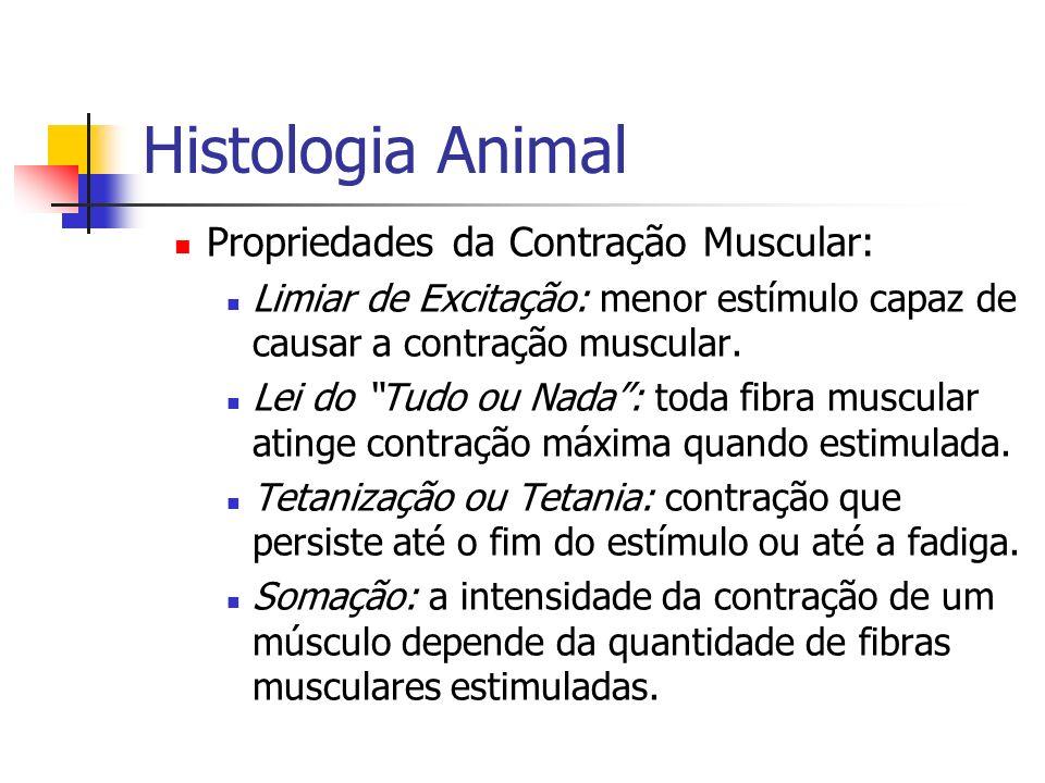 Histologia Animal Propriedades da Contração Muscular: