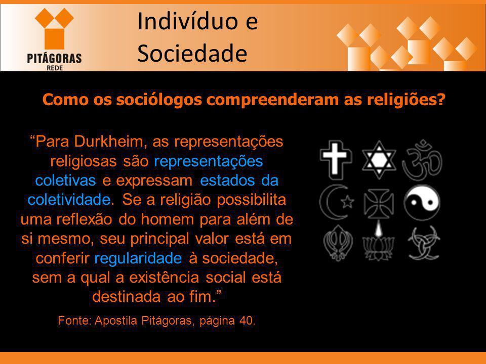 Como os sociólogos compreenderam as religiões