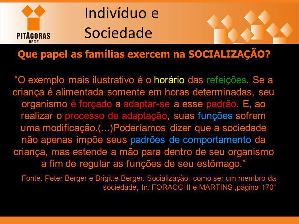 Que papel as famílias exercem na SOCIALIZAÇÃO