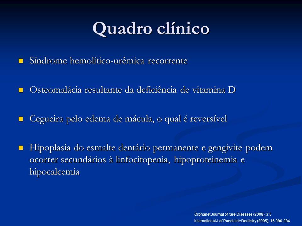 Quadro clínico Síndrome hemolítico-urêmica recorrente