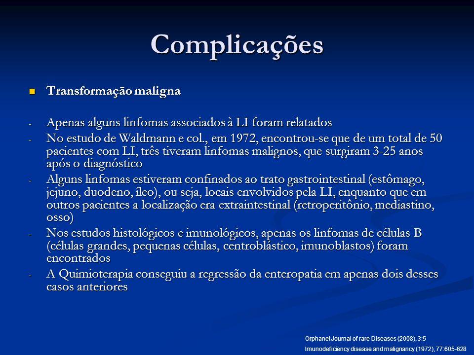 Complicações Transformação maligna