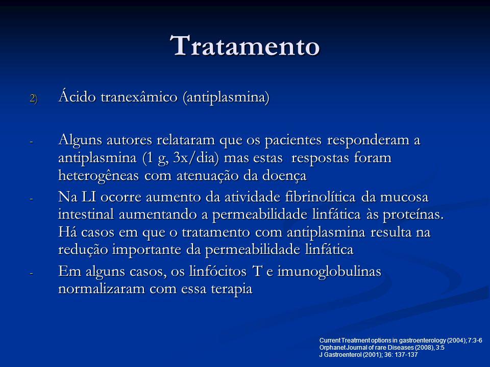 Tratamento Ácido tranexâmico (antiplasmina)