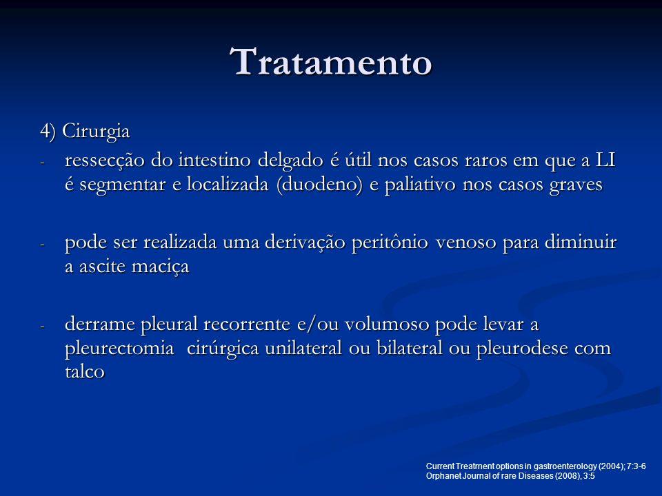 Tratamento 4) Cirurgia.