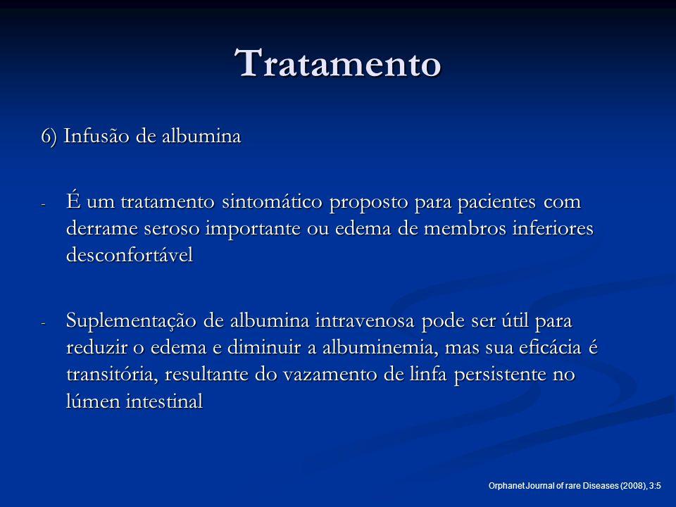 Tratamento 6) Infusão de albumina