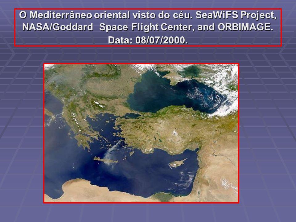 O Mediterrâneo oriental visto do céu