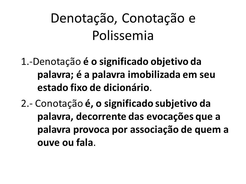 Denotação, Conotação e Polissemia