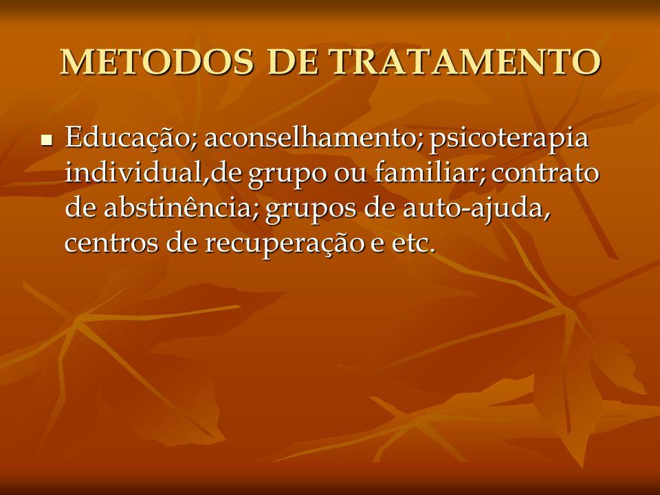 METODOS DE TRATAMENTO