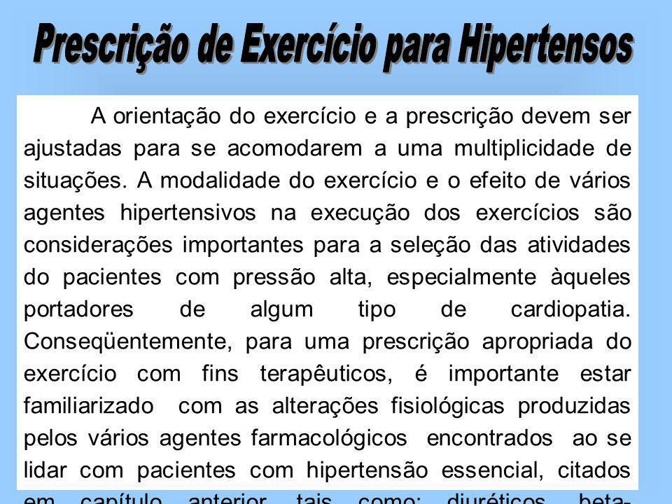 Prescrição de Exercício para Hipertensos