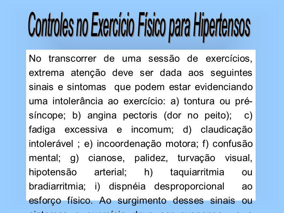 Controles no Exercício Físico para Hipertensos