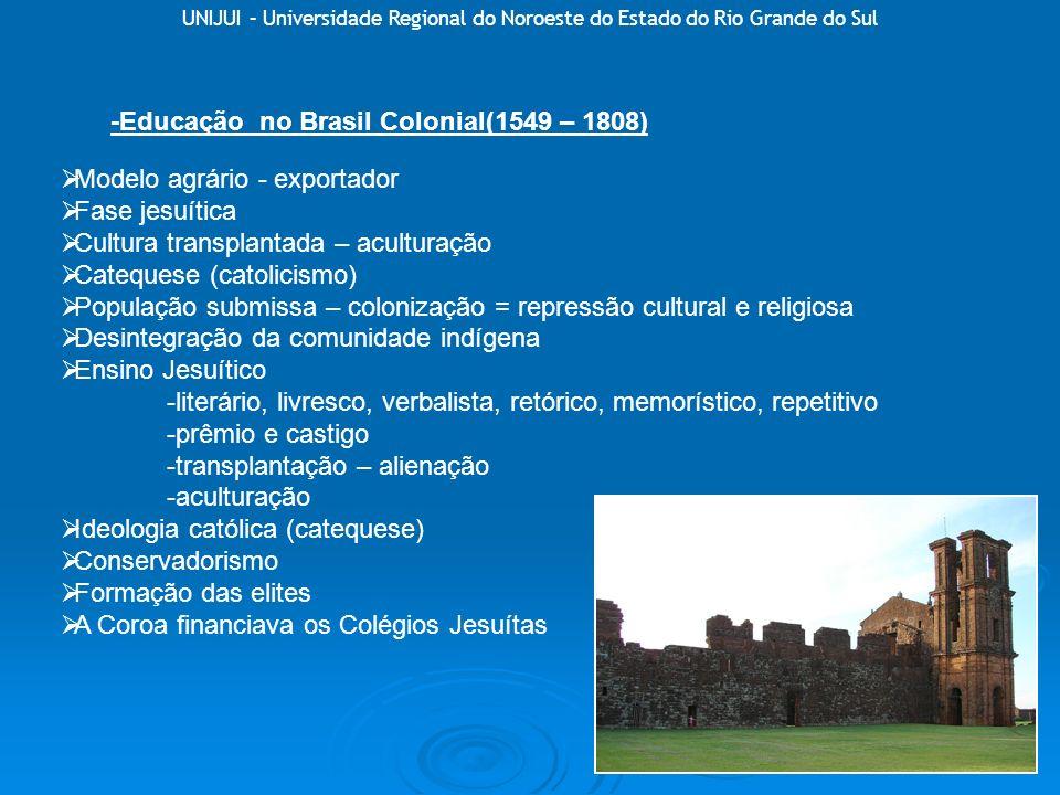 -Educação no Brasil Colonial(1549 – 1808)