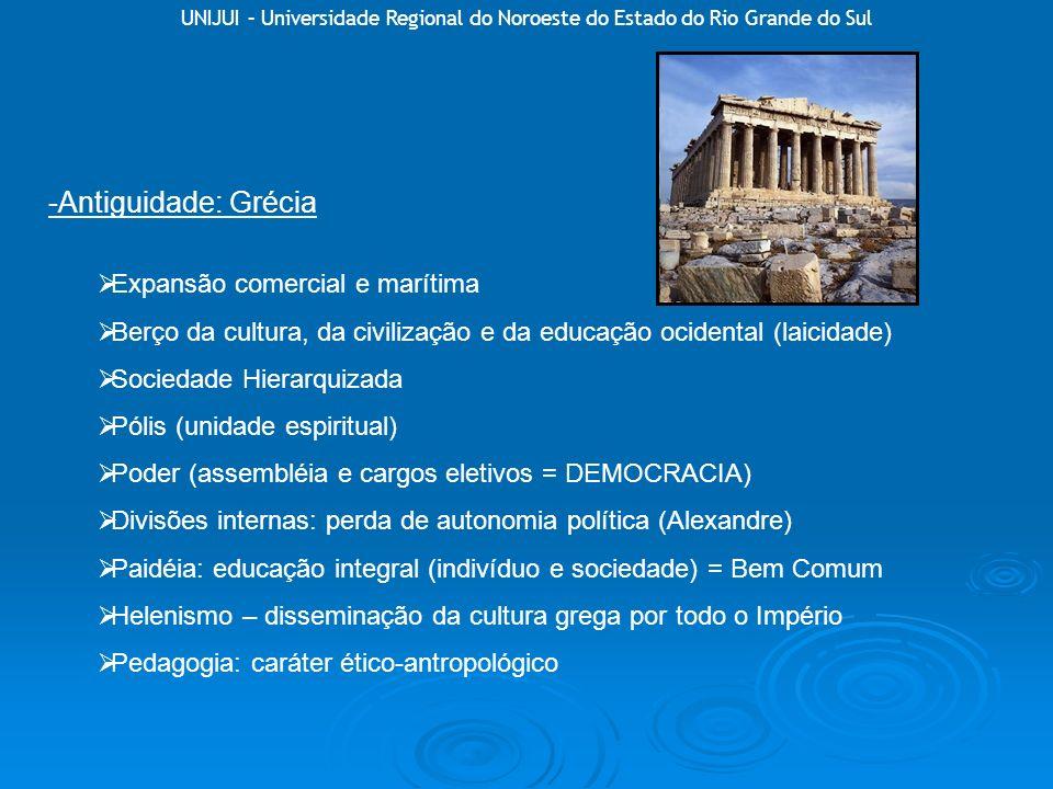 -Antiguidade: Grécia Expansão comercial e marítima