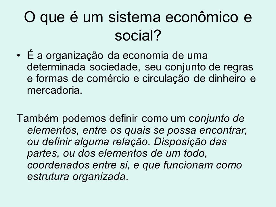 O que é um sistema econômico e social