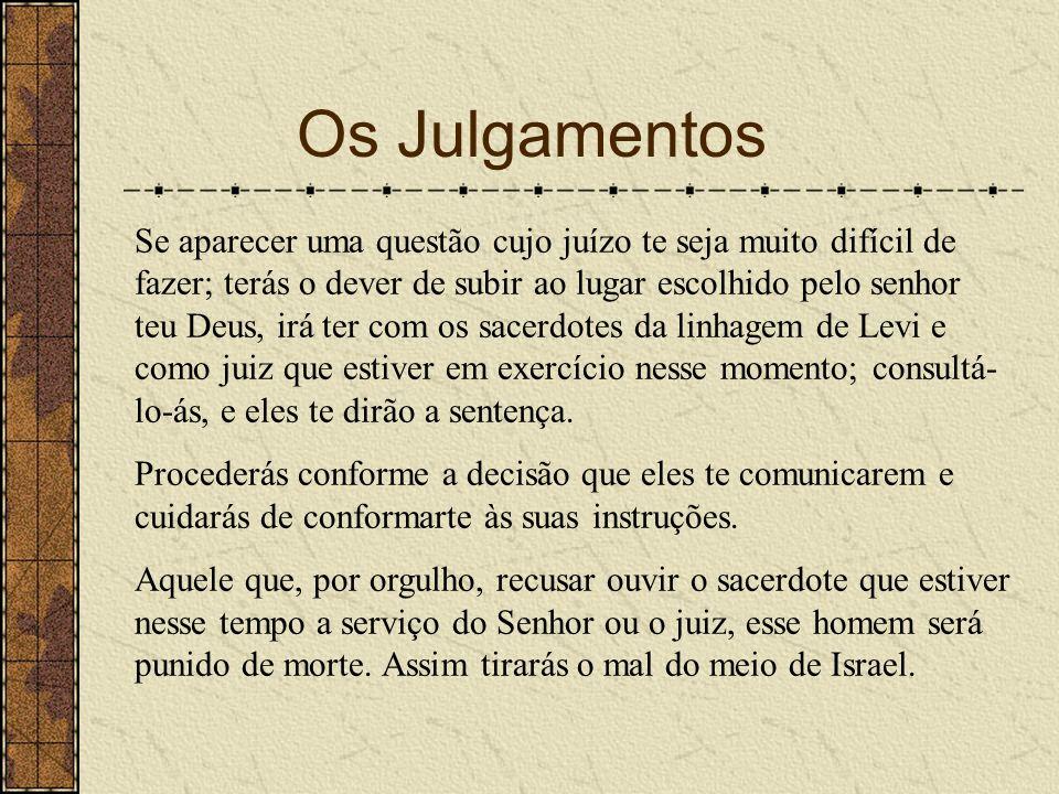 Os Julgamentos