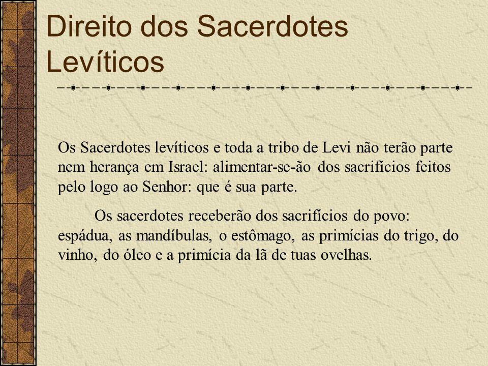 Direito dos Sacerdotes Levíticos