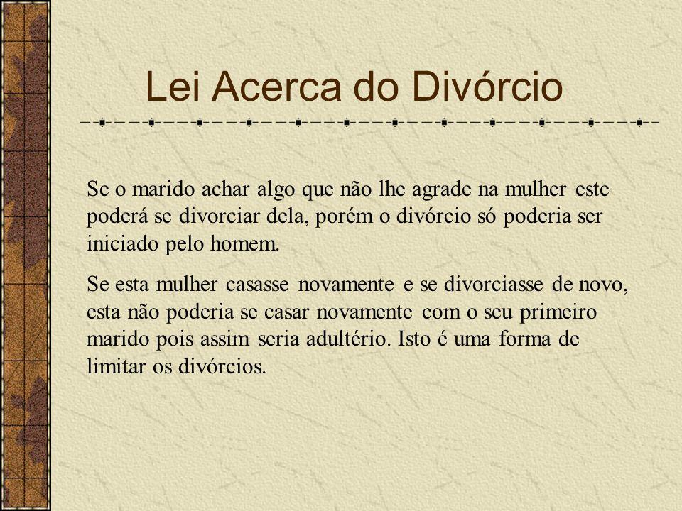 Lei Acerca do Divórcio