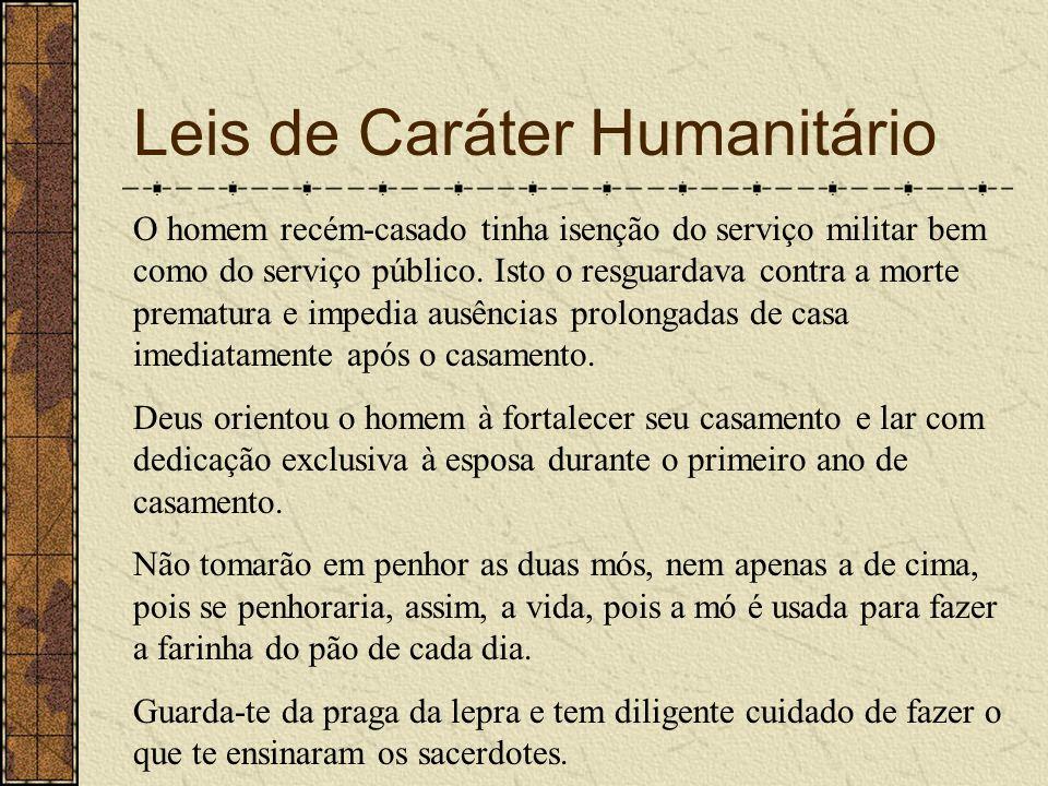 Leis de Caráter Humanitário