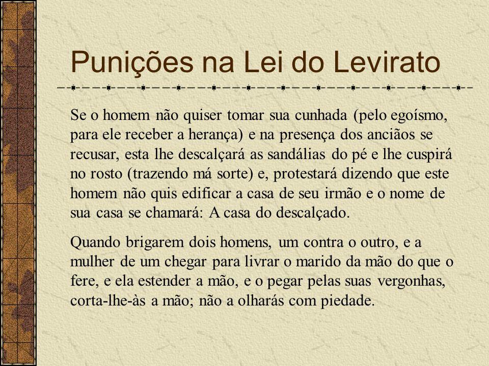 Punições na Lei do Levirato