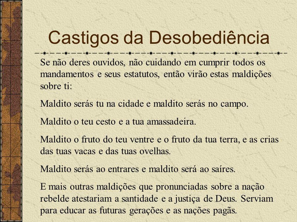 Castigos da Desobediência