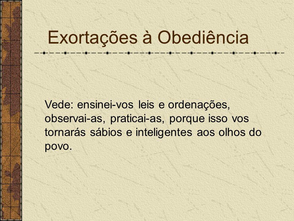 Exortações à Obediência
