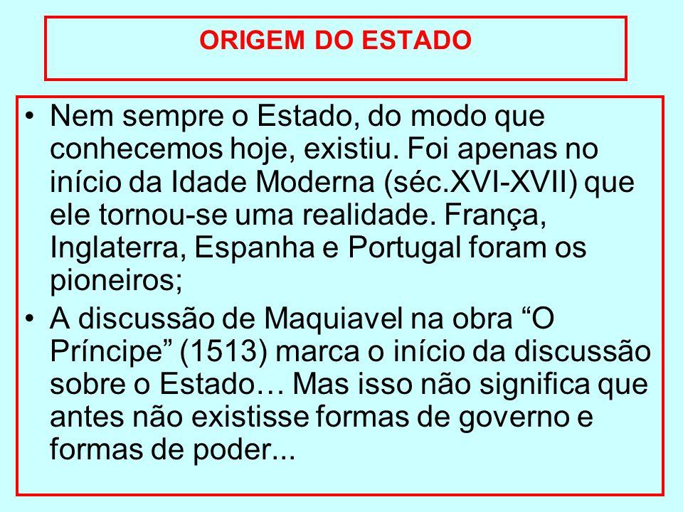 ORIGEM DO ESTADO