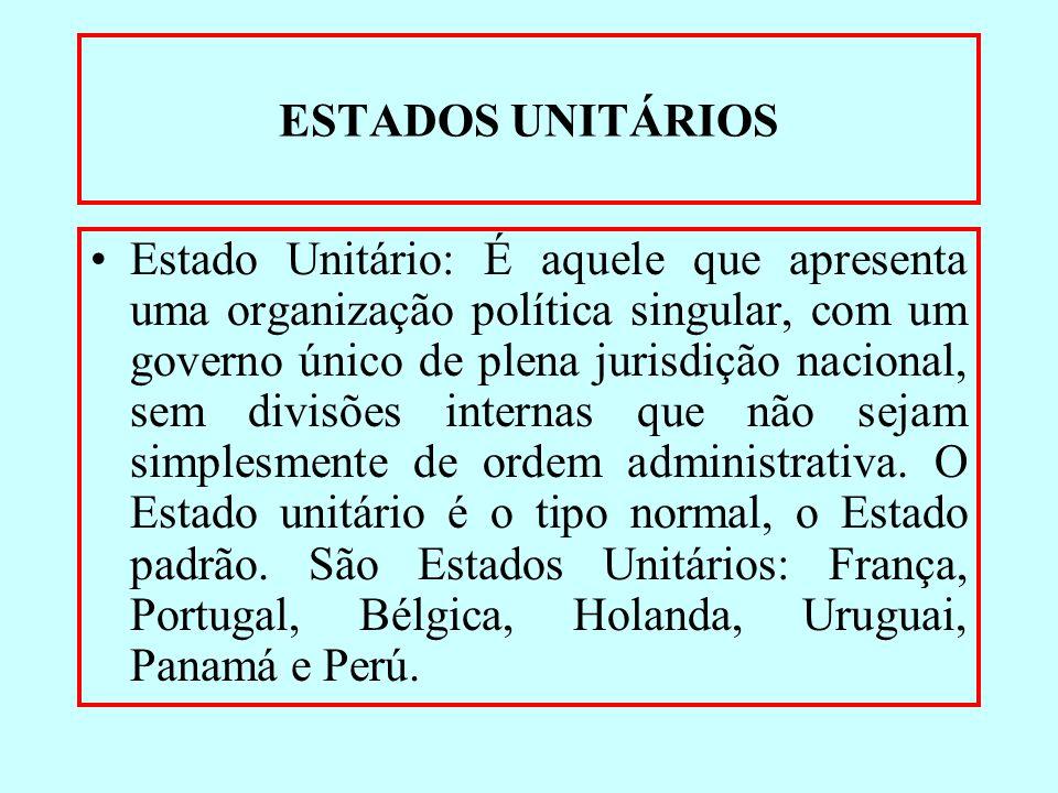 ESTADOS UNITÁRIOS