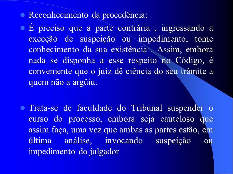 Reconhecimento da procedência:
