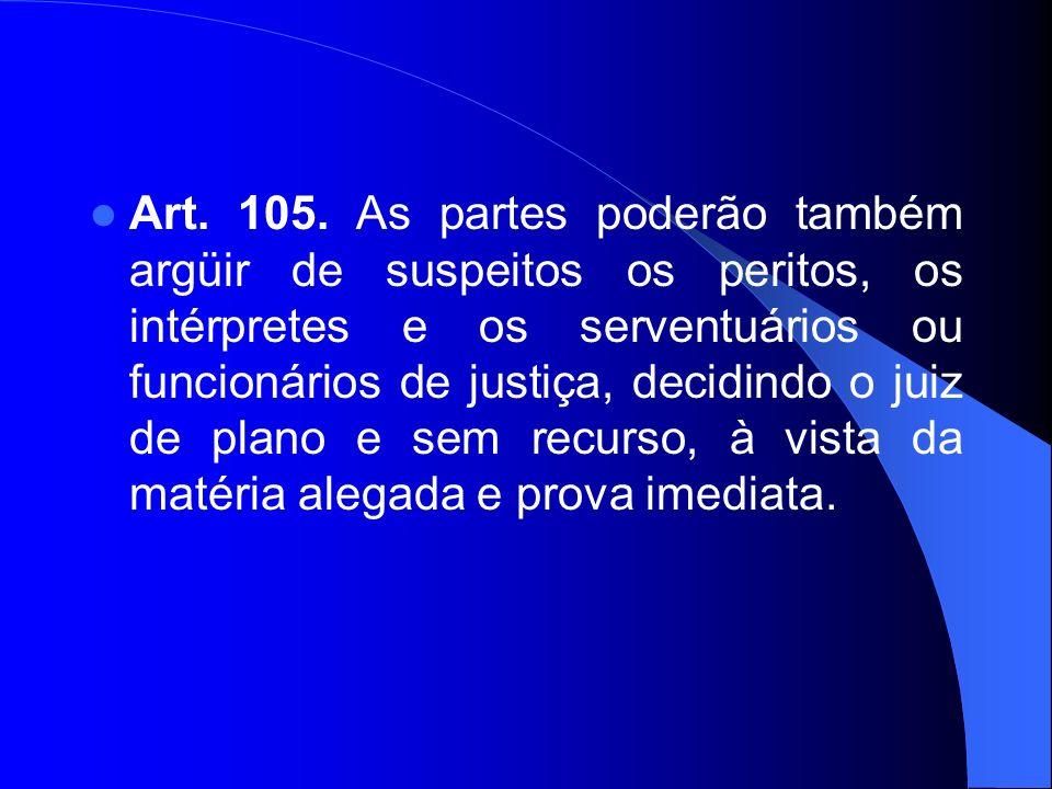 Art. 105.