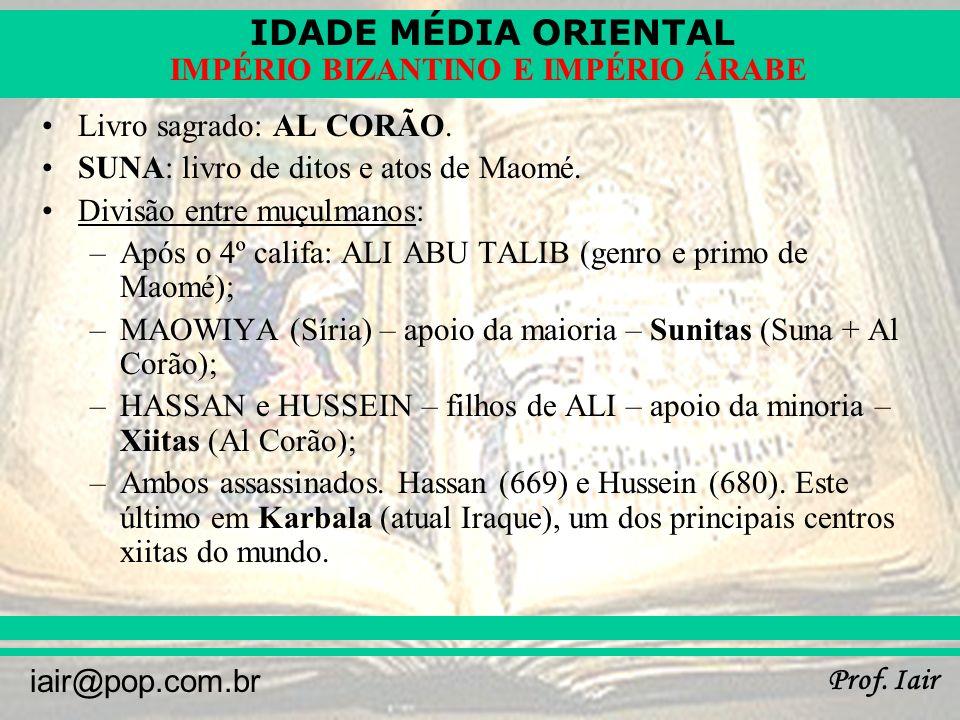Livro sagrado: AL CORÃO.