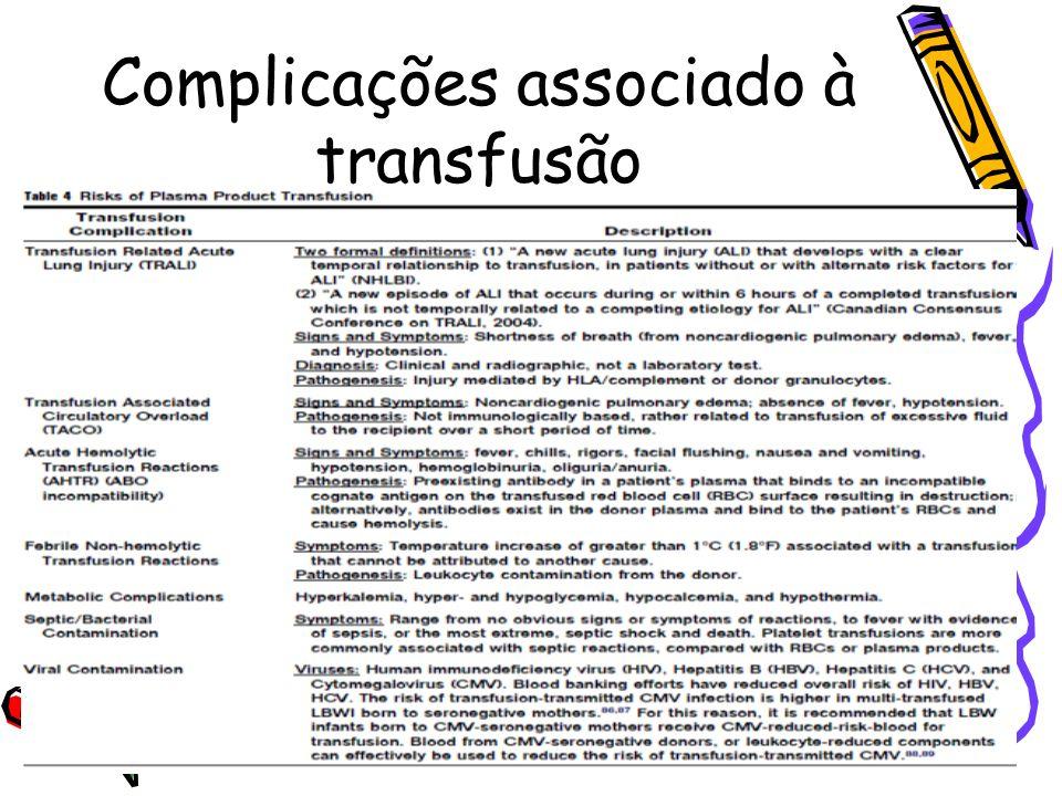 Complicações associado à transfusão