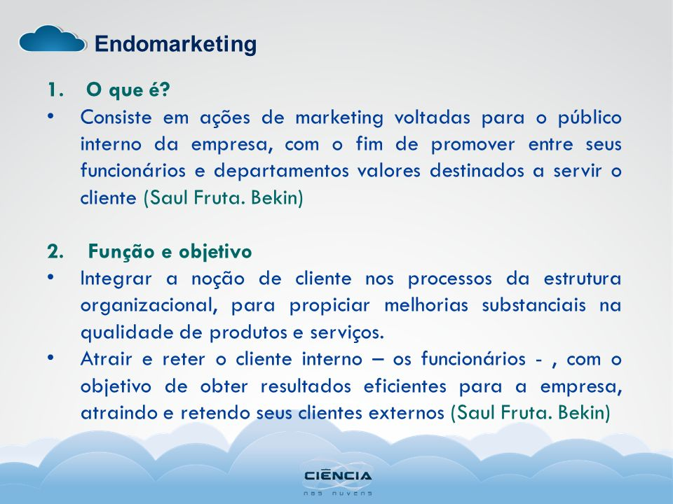 Endomarketing O que é