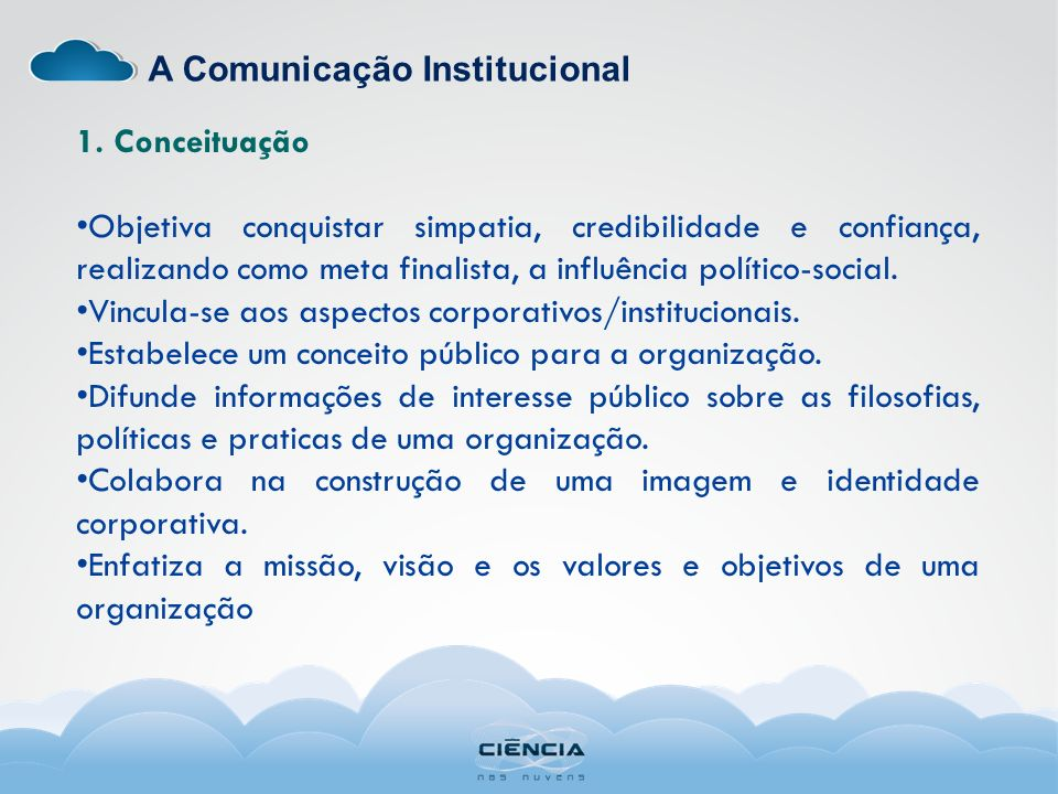 A Comunicação Institucional