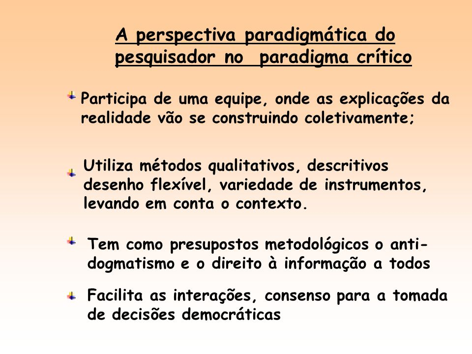A perspectiva paradigmática do pesquisador no paradigma crítico