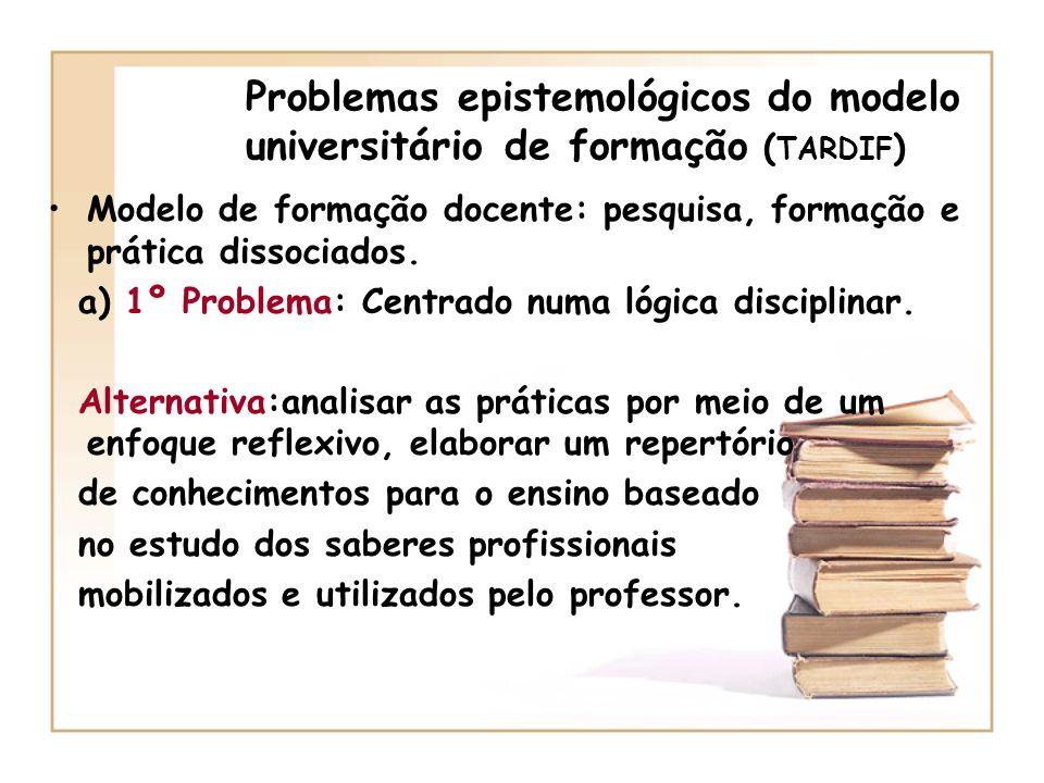 Problemas epistemológicos do modelo universitário de formação (TARDIF)